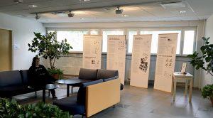 Näyttely kuvakommunikaatiosta Oltermanni-keskuksen aulassa