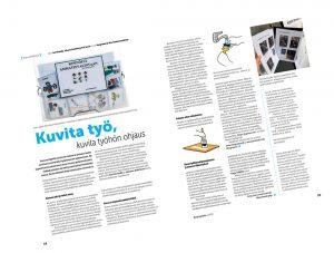Kuvakommunikaation käytön mahdollisuuksista kertova artikkeli Kyvyt käyttöön -lehdessä