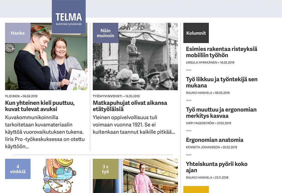 artikkeli Telma-lehdessä