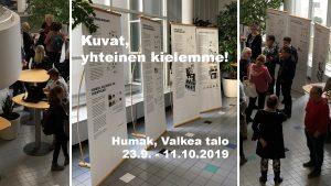 Näyttely kuvakommunikaatiosta Helsingissä Valkeassa talossa