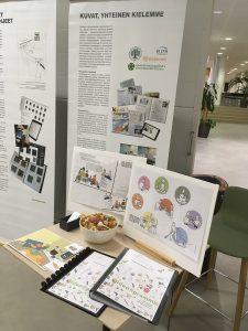 Näyttely kuvakommunikaatiosta Hämeen ammattikorkeakoulussa