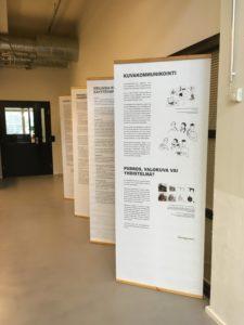 Näyttely kuvakommunikaatiosta Turun Diakonia ammattikorkeakoulussa